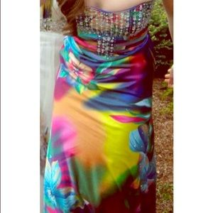 Tony Bowls colorful prom dress only worn once!!